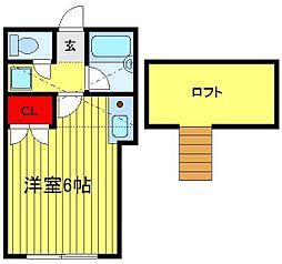 コーポ逆井[203号室]の間取り