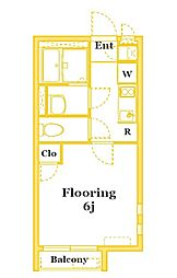 JR京浜東北・根岸線 本郷台駅 徒歩19分の賃貸アパート 2階1Kの間取り