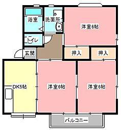 エスペランス広沢B[2階]の間取り