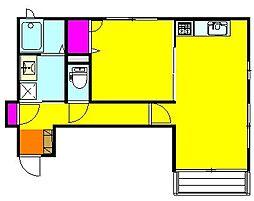ハイジの家II[1階]の間取り