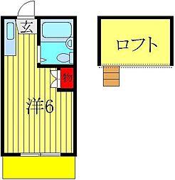 ロフティドリームNO1・2[1階]の間取り