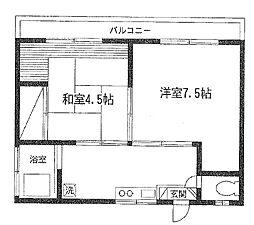 石井アパート[201号室]の間取り