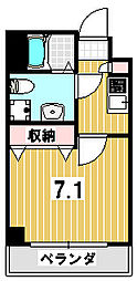 吉田ヒル京園[106号室]の間取り