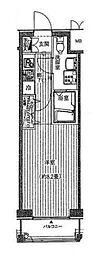 プレールドゥーク横浜WEST[3階]の間取り