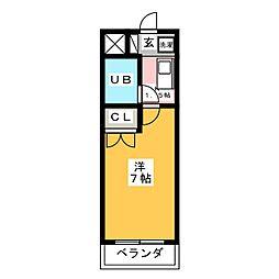 ヴィラ中駒[3階]の間取り