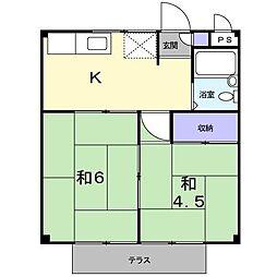 ハイツ土屋[1階]の間取り