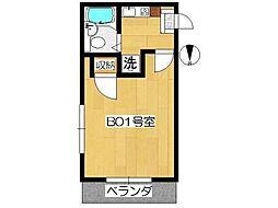 フレンドポート橋本[1階]の間取り