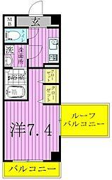 エスパシオE[4階]の間取り