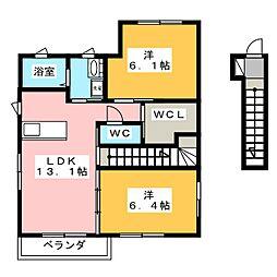 わたつみ E棟[2階]の間取り