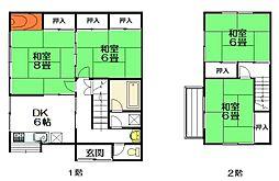 [一戸建] 宮城県仙台市青葉区小松島3丁目 の賃貸【/】の間取り
