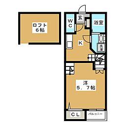 クレオ箱崎宮前参番館[1階]の間取り
