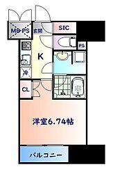 仙台市営南北線 勾当台公園駅 徒歩6分の賃貸マンション 11階1Kの間取り