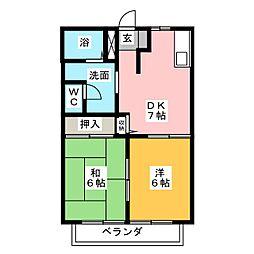 インパレス道下 A棟[2階]の間取り