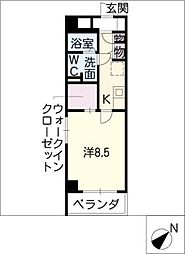 パークサイド神宮西[4階]の間取り