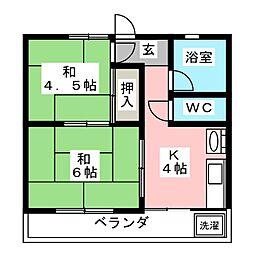 ワイ・コスタリカ(Y・KOSUTARICA)[2階]の間取り