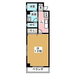 エスポワール東別院[6階]の間取り