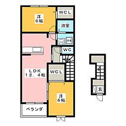 スターブルA棟[2階]の間取り