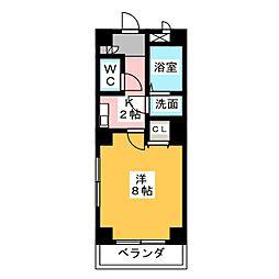 愛知県名古屋市緑区鳴子町1丁目の賃貸マンションの間取り
