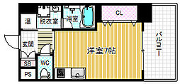 プリモディーネ福島[2階]の間取り