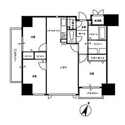 グリーンヒル舞鶴リバープレイス[2階]の間取り