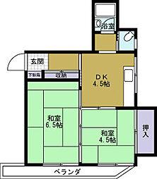 桑田マンション[4階]の間取り