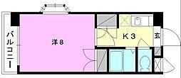 ジョイフル第2朝生田[706 号室号室]の間取り