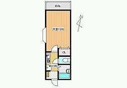 センターフィールドパート3[3階]の間取り