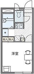 滋賀県大津市雄琴6丁目の賃貸アパートの間取り