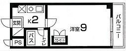 カーサ・ソラッツオ壱番館[615号室]の間取り