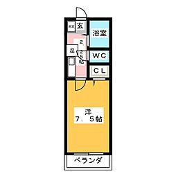 オークヴィラ三番館[1階]の間取り