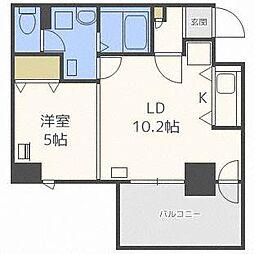北海道札幌市東区北四十一条東15丁目の賃貸マンションの間取り