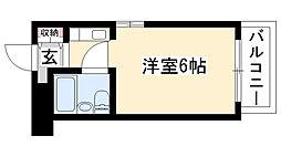 愛知県名古屋市昭和区御器所2丁目の賃貸マンションの間取り