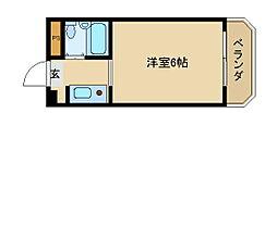 兵庫県尼崎市名神町1丁目の賃貸マンションの間取り