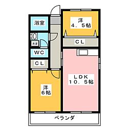 名栄ビル[4階]の間取り