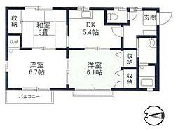 シャーメゾン長崎[101号室]の間取り