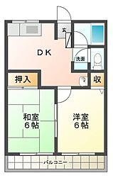 メゾン橋本[2階]の間取り