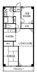 ニューライフマンション[3階]の間取り