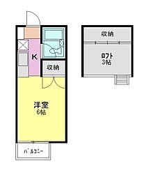 エトワ−ルⅢ[2階]の間取り