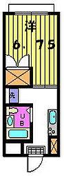 第三カトレアハイツ[2−A号室]の間取り