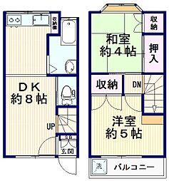 [一戸建] 東京都中野区南台4丁目 の賃貸【/】の間取り