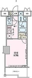 ロイジェントパークス赤坂[507号室]の間取り
