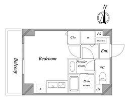 西武池袋線 練馬駅 徒歩7分の賃貸マンション 5階ワンルームの間取り
