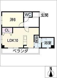 さつきビル[2階]の間取り