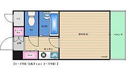 サンユタカマンション[702号室]の間取り