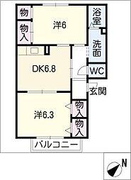 ネオハイムよしみ[2階]の間取り