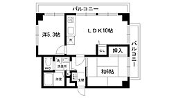 フェイバリー甲東園I[304号室]の間取り