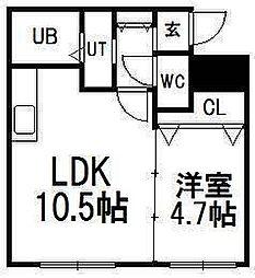 北海道札幌市豊平区豊平三条3の賃貸マンションの間取り
