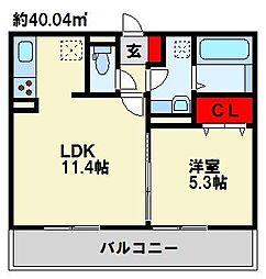 イース黒崎[2階]の間取り