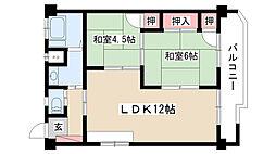愛知県名古屋市瑞穂区彌富ヶ丘町2丁目の賃貸マンションの間取り