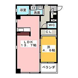 QULIO BLUE[3階]の間取り